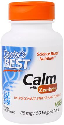 Calm with Zembrin, 25 mg, 60 Veggie Caps by Doctors Best, 健康,情緒,焦慮 HK 香港