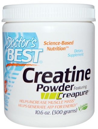 Creatine Powder Featuring Creapure, 10.6 oz (300 g) by Doctors Best, 運動,肌酸粉 HK 香港