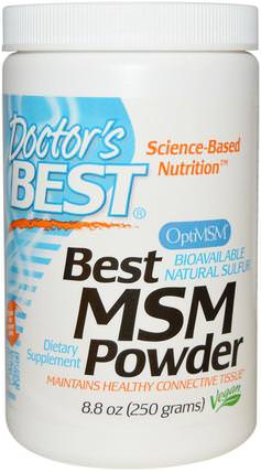 MSM Powder with OptiMSM, 8.8 oz (250 g) by Doctors Best, 健康,骨關節炎,lignisul msm,關節炎 HK 香港