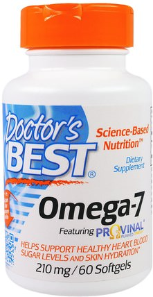 Omega-7, 210 mg, 60 Softgels by Doctors Best, 補充劑,omega-7 HK 香港