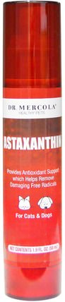 Astaxanthin, 1.9 fl oz (58 ml) by Dr. Mercola, 補充劑,抗氧化劑,蝦青素 HK 香港