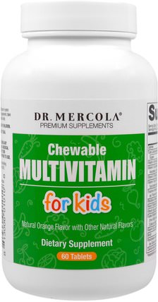 Chewable Multivitamin for Kids, 60 Tablets by Dr. Mercola, 健康 HK 香港