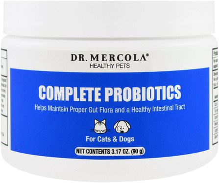 Complete Probiotics, For Cats & Dogs, 3.17 oz (90 g) by Dr. Mercola, 健康 HK 香港