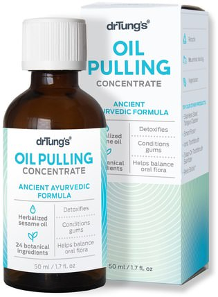 Oil Pulling Concentrate, Ancient Ayurvedic Formula, 1.7 fl oz (50 ml) by Dr. Tungs, 洗澡,美容,口腔牙科護理 HK 香港