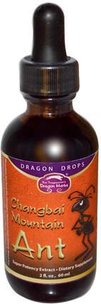 Dragon Herbs, Changbai Mountain Ant, Super Potency Extract, 2 fl oz (60 ml) 健康
