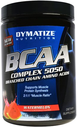 BCAA, Complex 5050, Branched Chain Amino Acids, Watermelon, 10.6 oz (300 g) by Dymatize Nutrition, 補充劑,氨基酸,bcaa(支鏈氨基酸) HK 香港