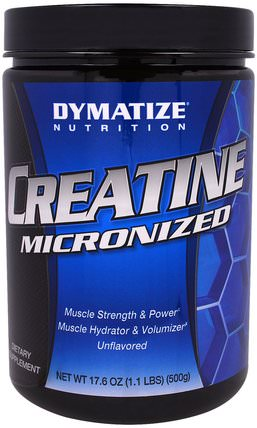 Creatine Micronized, 17.6 oz (500 g) by Dymatize Nutrition, 運動,肌酸粉,鍛煉 HK 香港