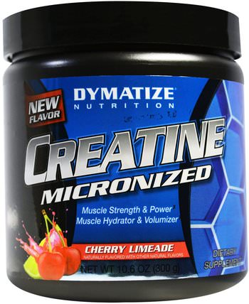 Creatine Micronized, Cherry Limeade, 10.6 oz (300 g) by Dymatize Nutrition, 運動,肌酸 HK 香港