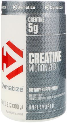 Creatine Micronized, Unflavored, 10.6 oz (300 g) by Dymatize Nutrition, 運動,肌酸 HK 香港