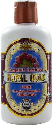 Dynamic Health Laboratories, Organic Certified Nopal Gold, 32 fl oz (946 ml) 食品,咖啡茶和飲料,果汁