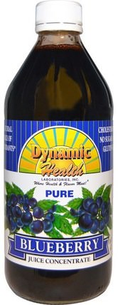 Pure Blueberry Juice Concentrate, 16 fl oz (473 ml) by Dynamic Health Laboratories, 食品,咖啡茶和飲料,果汁 HK 香港