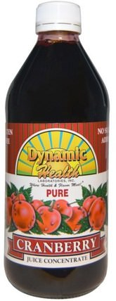 Pure Cranberry Juice Concentrate, 16 fl oz (473 ml) by Dynamic Health Laboratories, 食品,咖啡茶和飲料,果汁 HK 香港