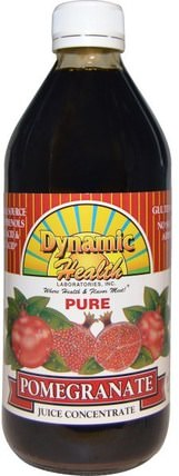 Pure Pomegranate Juice Concentrate, 16 fl oz (473 ml) by Dynamic Health Laboratories, 食品,咖啡茶和飲料,果汁 HK 香港