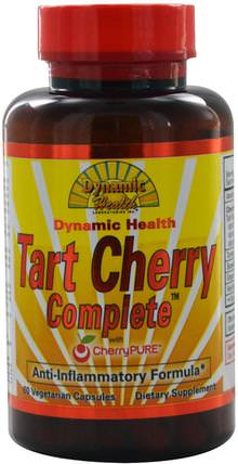 Tart Cherry Complete with CherryPure, 60 Veggie Caps by Dynamic Health Laboratories, 食品,咖啡茶和飲料,果汁 HK 香港