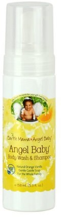 Angel Baby Shampoo & Body Wash, Natural Orange Vanilla, 5.3 fl oz (160 ml) by Earth Mama Angel Baby, 兒童健康,兒童洗澡,洗髮水,兒童洗髮水 HK 香港