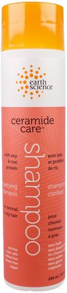 Ceramide Care, Clarifying Shampoo, 10 fl oz (295 ml) by Earth Science, 洗澡,美容,洗髮水,頭髮,頭皮,護髮素 HK 香港