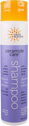 Earth Science, Ceramide Care, Fragrance Free Shampoo, 10 fl oz (295 ml) 洗澡,美容,洗髮水,頭髮,頭皮,護髮素