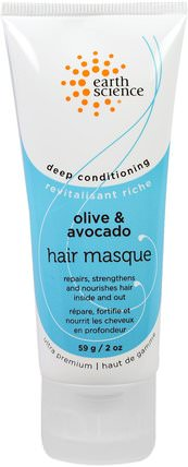 Deep Conditioning, Hair Masque, Olive & Avocado, 2 oz (59 g) by Earth Science, 洗澡,美容,護髮素,頭髮,頭皮,洗髮水,護髮素 HK 香港