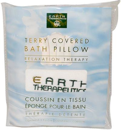 Terry Covered Bath Pillow, Relaxation Therapy, 1 Pillow by Earth Therapeutics, 洗澡,美女 HK 香港
