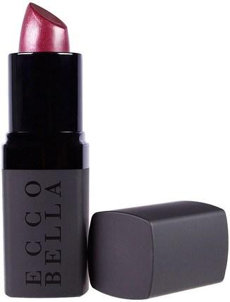 Ecco Bella, Flowercolor Lipstick, Merlot.13 oz (3 g) 沐浴,美容,唇部護理,唇膏,口紅,光澤,襯墊