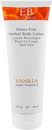 Herbal Body Lotion, Vanilla, 8 fl oz (200 ml) by Ecco Bella, 沐浴,美容,身體護理,潤膚露 HK 香港