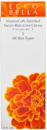 Night Rebuilder Cream, 5, 2 fl oz (60 ml) by Ecco Bella, 健康,皮膚,晚霜,美容,面部護理,皮膚類型抗衰老皮膚 HK 香港