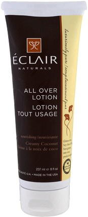 All Over Lotion, Creamy Coconut, 8 fl oz (237 ml) by Eclair Naturals, 健康,皮膚,潤膚露 HK 香港