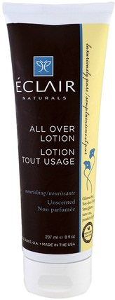 All Over Lotion, Nourishing. Unscented, 8 fl oz (237 ml) by Eclair Naturals, 健康,皮膚,潤膚露 HK 香港