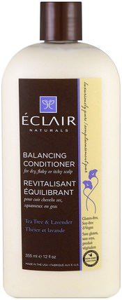 Balancing Conditioner, Tea Tree & Lavender, 12 fl oz (355 ml) by Eclair Naturals, 洗澡,美容,頭髮,頭皮,護髮素 HK 香港