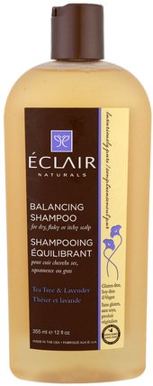 Balancing Shampoo, Tea Tree & Lavender, 12 fl oz (355 ml) by Eclair Naturals, 洗澡,美容,頭髮,頭皮,洗髮水 HK 香港