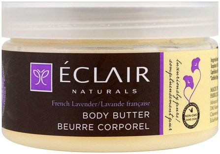 Body Butter, French Lavender, 4 oz (113 g) by Eclair Naturals, 健康,皮膚 HK 香港