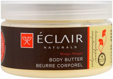 Body Butter, Mango, 4 oz (113 g) by Eclair Naturals, 健康,皮膚 HK 香港