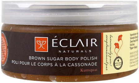 Brown Sugar Body Polish, 9 oz (255 g) by Eclair Naturals, 洗澡,美女 HK 香港