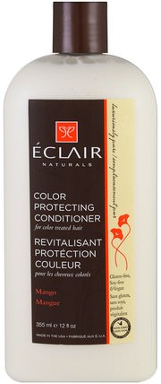 Color Protecting Conditioner, Mango, 12 fl oz (355 ml) by Eclair Naturals, 洗澡,美容,頭髮,頭皮,護髮素 HK 香港
