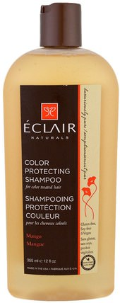Color Protecting Shampoo, Mango, 12 fl oz (355 ml) by Eclair Naturals, 洗澡,美容,頭髮,頭皮,洗髮水 HK 香港