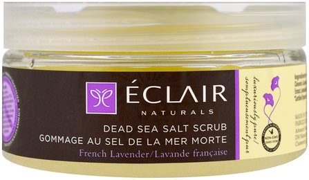 Dead Sea Salt Scrub, French Lavender, 9 oz (255 g) by Eclair Naturals, 洗澡,美女 HK 香港