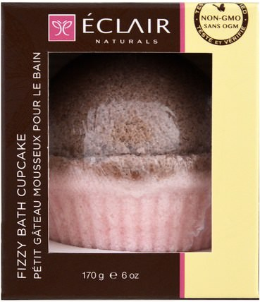 Fizzy Bath Cupcake, Rose Sandalwood, 6 oz (170 g) by Eclair Naturals, 洗澡,美容,浴鹽 HK 香港