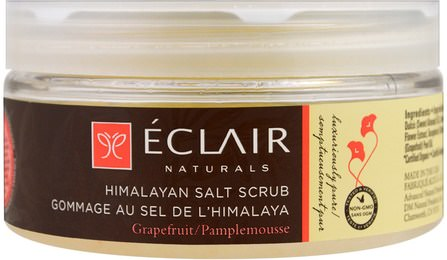 Himalayan Salt Scrub, Grapefruit, 9 oz (255 g) by Eclair Naturals, 洗澡,美女 HK 香港