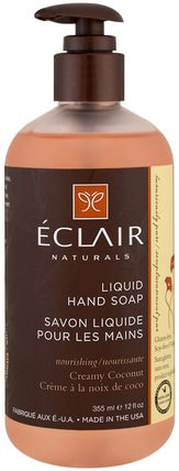 Liquid Hand Soap, Creamy Coconut, 12 fl oz (355 ml) by Eclair Naturals, 洗澡,美容,肥皂 HK 香港