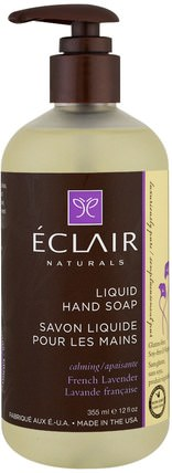 Liquid Hand Soap, French Lavender, 12 fl oz (355 ml) by Eclair Naturals, 洗澡,美容,肥皂 HK 香港