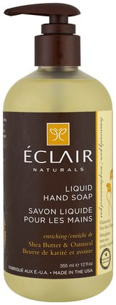 Liquid Hand Soap, Shea Butter & Oatmeal, 12 fl (355 ml) by Eclair Naturals, 洗澡,美容,肥皂 HK 香港
