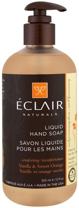 Liquid Hand Soap, Vanilla & Sweet Orange, 12 fl oz (355 ml) by Eclair Naturals, 洗澡,美容,肥皂 HK 香港