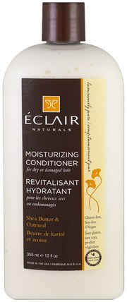 Moisturizing Conditioner, Shea Butter & Oatmeal, 12 fl oz (355 ml) by Eclair Naturals, 洗澡,美容,頭髮,頭皮,護髮素 HK 香港