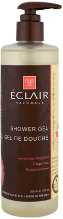 Shower Gel, Energizing, Grapefruit, 12 fl oz (355 ml) by Eclair Naturals, 洗澡,美容,沐浴露 HK 香港