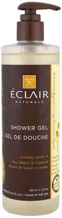 Shower Gel, Enriching, Shea Butter & Oatmeal, 12 fl oz (355 ml) by Eclair Naturals, 洗澡,美容,沐浴露 HK 香港