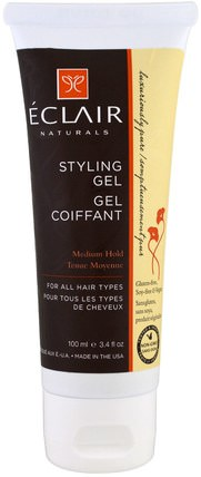 Styling Gel, Medium Hold, 3.4 fl oz (100 ml) by Eclair Naturals, 洗澡,美容,頭髮,頭皮 HK 香港
