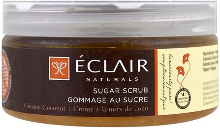 Sugar Scrub, Creamy Coconut, 9 oz (255 g) by Eclair Naturals, 洗澡,美女 HK 香港