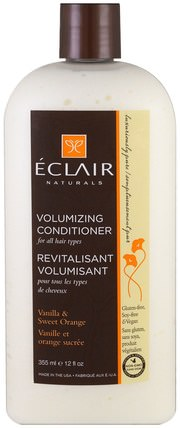 Volumizing Conditioner, Vanilla & Sweet Orange, 12 fl oz (355 ml) by Eclair Naturals, 洗澡,美容,頭髮,頭皮,護髮素 HK 香港