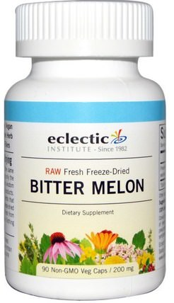 Bitter Melon, 200 mg, 90 Non-GMO Veggie Caps by Eclectic Institute, 草藥,苦瓜 HK 香港
