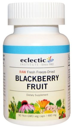 Blackberry Fruit, 480 mg, 90 Non-GMO Veggie Caps by Eclectic Institute, 草藥,黑莓 HK 香港
